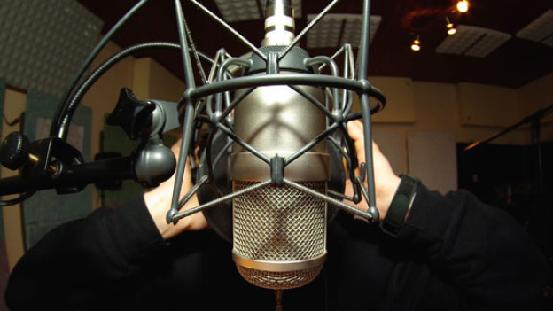 Studio Gesangsaufnahme (Symbolbild)
