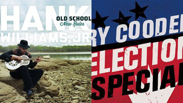 Links: Album Cover «Old School New Rules» von Hank William jr. Rechts: Album Cover «Election Special» von Ry Cooder.