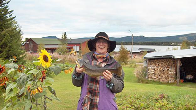 Gabi Lienhard in Lappland.