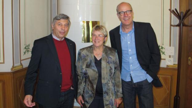 v.l.n.r. Ferdinand Riederer, Rosalia Humm, Daniel Hitzig