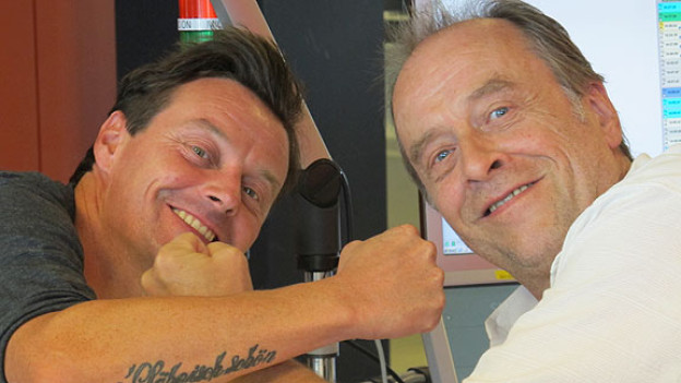 Zum Scherzen aufgelegt: Florian Ast zu Gast bei Joschi Kühne in der Sendung «Swissmade».