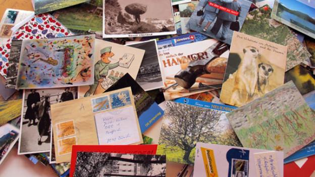Hunderte von Postkarten haben uns für den Treffpunkt erreicht. Ein herzliches Dankeschön geht an alle Hörerinnen und Hörer von DRS 1, die uns traditionelle, historische, originelle oder kreative Karten geschickt haben.