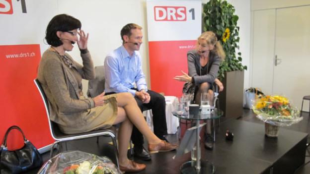 V.l.n.r. Christine Hausherr und Gabriel Galliker-Etter und Anita Richner