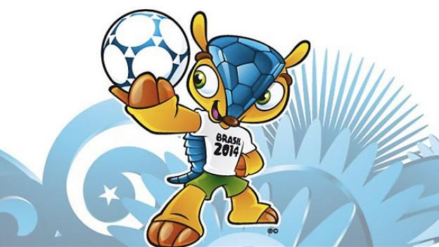 Das WM-Maskottchen 2014.