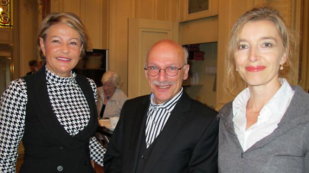 Die «Persönlich»-Gäste Elisabeth Zölch, Beat Kappeler und DRS 1-Gastgeberin Anita Richner.