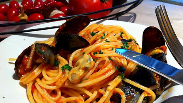 Spaghetti con le cozze.