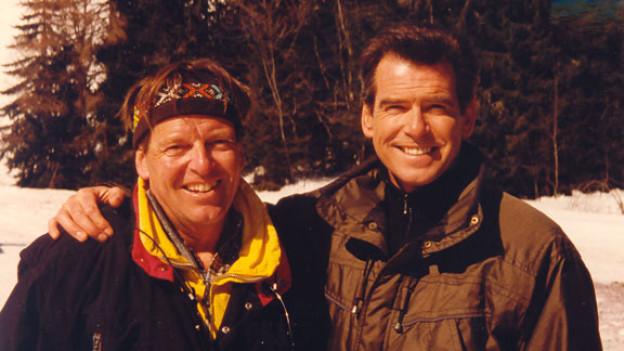 Stefan Zürcher und Pierce Brosnan - fast etwas wie Freundschaft, wie der Berner Oberländer sagt.