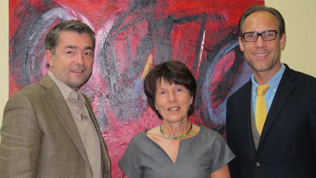 v.l.n.r. Stefan Gubser, Susy Gübelin und Christian Zeugin