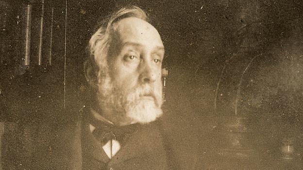 Selbstporträt von Edgar Degas in der Bibliothek, 1895.