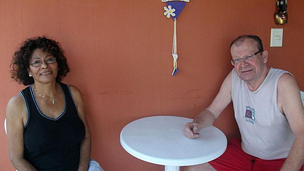 Maria Lucia Alves Hartgens und Hans-Joachim Hartgens in Lauro de Freitas, Bahia/Brasil.