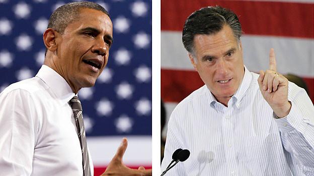 Wer wird der neue U.S. Präsident: Barack Obama (links) oder Mitt Romney.