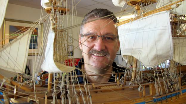 «Einmal Bounty-Fan, immer Bounty-Fan»: Edi Spengler sammelt alles, was mit dem legendären britischen Segelschiff im Zusammenhang steht.