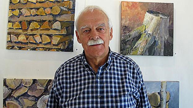 «Ich male sehr gerne Holz und Steine»: Gerhaard Schaad aus Biberist.