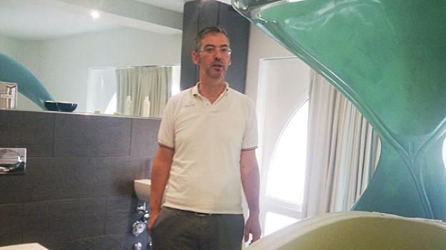 Oscar Trott beim «Samahdi-Tank»