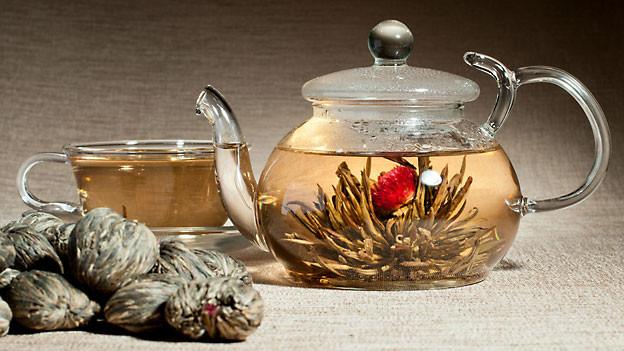 Die Teerose oder auch Teeblume wird in China bei besonders feierlichen Anlässen verwendet.