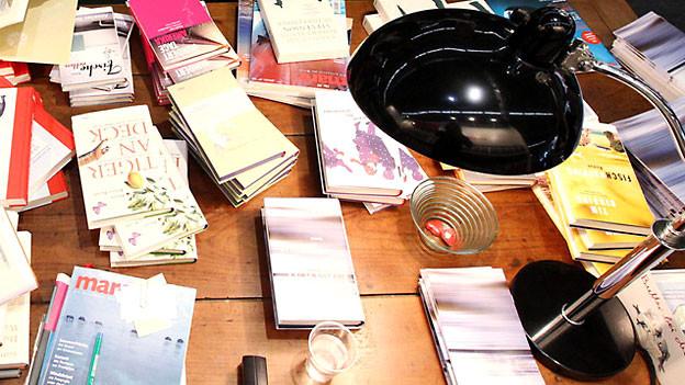 An der Frankfurter Buchmesse präsentieren rund 7'400 Aussteller aus über 100 Ländern ihre neusten Veröffentlichungen.