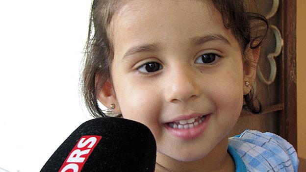 Die 3-jährige Rasell aus Syrien im «Interview» mit DRS 1.