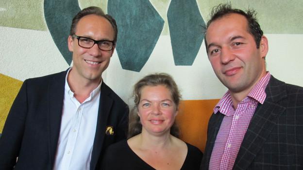 v.l.n.r. Christian Zeugin, Maja Zimmermann und Azem Maksutaj