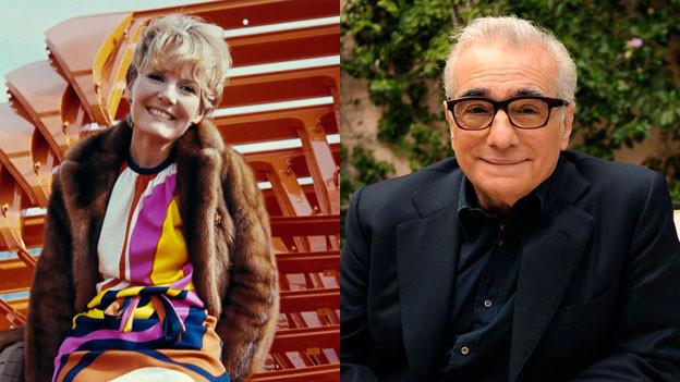 Sängerin Petula Clark und Regisseur Martin Scorsese.