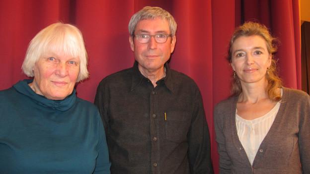 v.l.n.r. Verena Widmer, Bruno Moll und Anita Richner