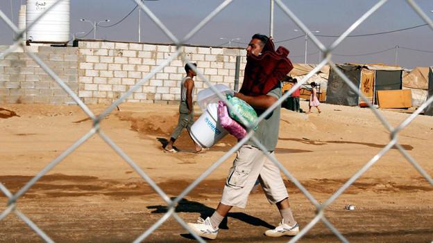 Ein Neuankömmling aus Syrien im jordanischen Flüchtlingslager.