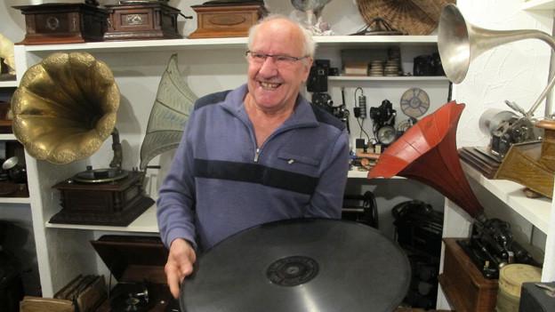 Der Wohler Wolfgang «Jimmy» Vonlanthen sammelt seit über 40 Jahren Grammophone aus aller Welt.