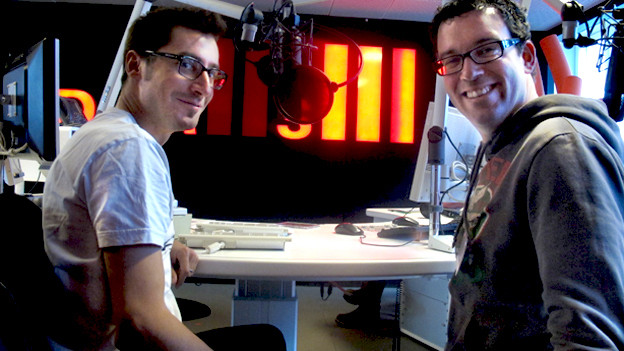 Tom Baumann und Christian Hiesch im DRS 1-Studio.