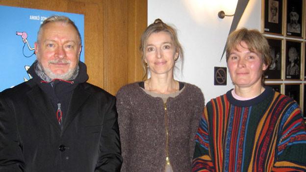 v.l.n.r. Richard Wherlock, Anita Richner und Elly Trachsel