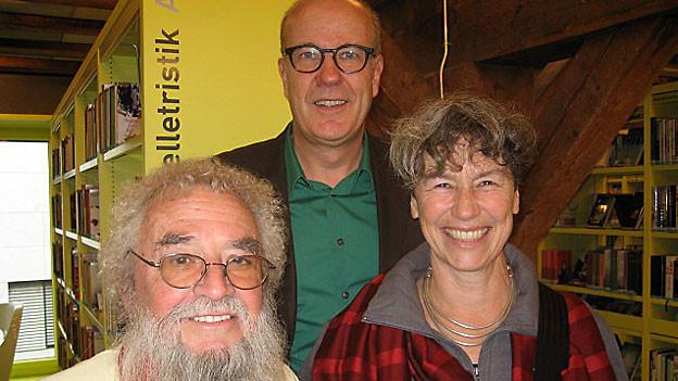 v.l.n.r. Max Braun, Daniel Hitzig und Susanne Kaufmann-Strübin.
