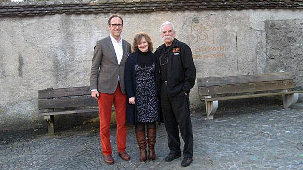 Radio SRF 1-Gastgeber Christian Zeugin, Fuada Hatkic und Robert Dubler.