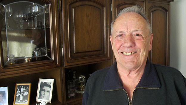 Otto Baumann hilft aktiv mit bei der Aktion 2xWeihnachten.