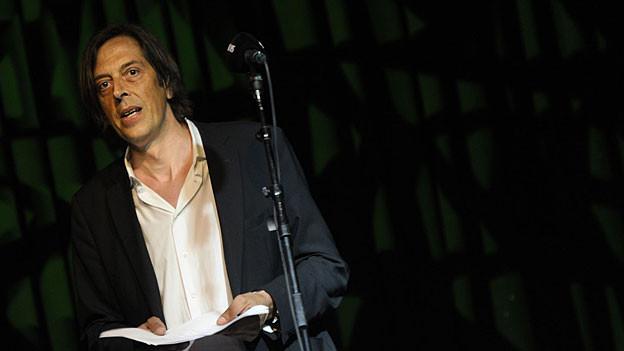 Pedro Lenz an der gägäWärt Mundartnacht 2012 in Solothurn