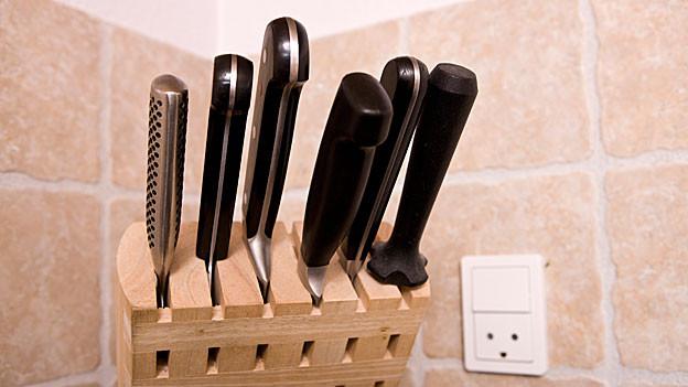 Scharfe Messer dürfen in keiner Küche fehlen.