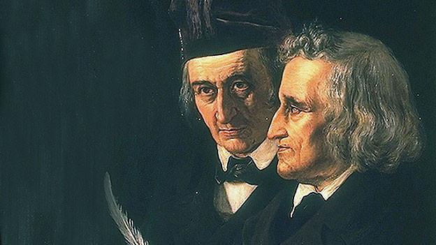 Die Gebrüder Jacob (links) und Wilhelm Grimm.