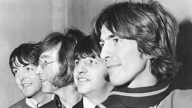 Die Beatles am 28. Februar 1968: Paul McCartney, John Lennon, Ringo Starr und George Harrison (v.l.n.r.).