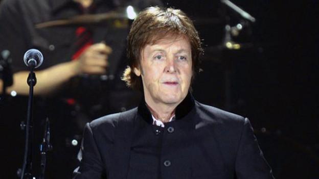 Paul McCartney 2012 bei seinem Konzert in Zürich.