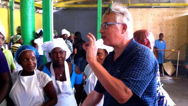 Tony Burgener in Haiti.