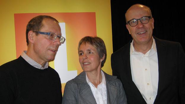 v.l.n.r. Stefan Sonderegger, Verena Kölbener und Daniel Hitzig
