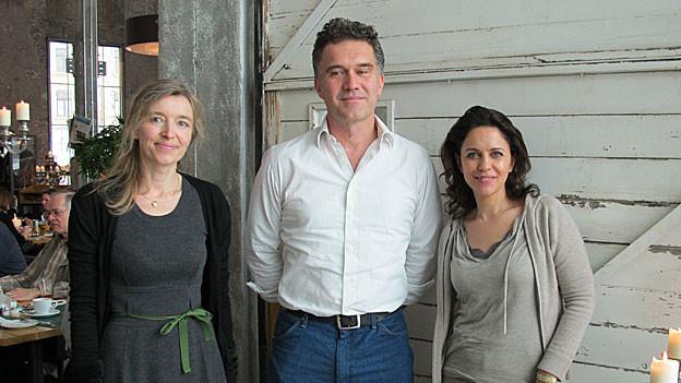 SRF 1-Gastgeberin Anita Richner, Klaus Zuberbühler und Camilla Fischbacher.