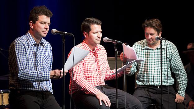 Die Gebirgspoeten in der Live-Radioshow «Ohrfeigen» im Kleintheater Luzern