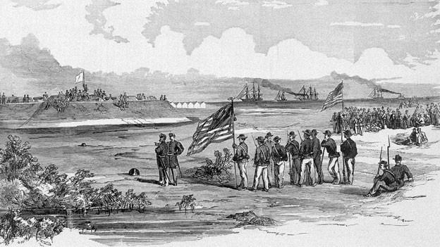 Der amerikanische Bürgerkrieg 1861.