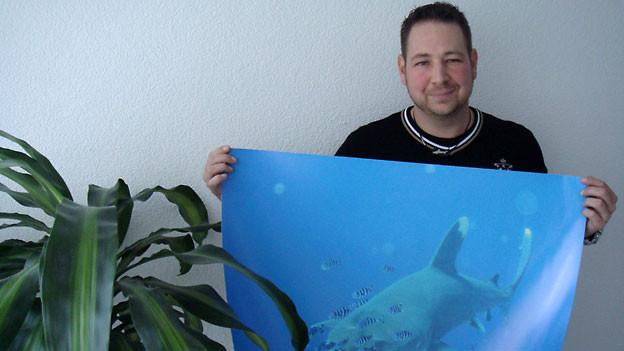 Der Weissspitzenhochseehai ist Roger Michels Lieblingshai.