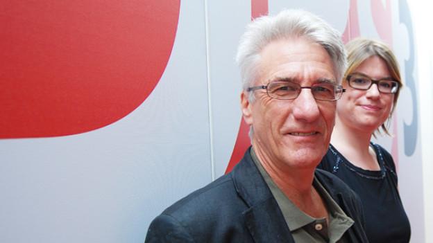Rolf Vieli und DRS 3-Moderatorin Franziska von Grünigen.