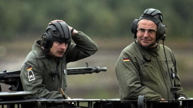 Auch im Trendsetting ein Schwergewicht: Altkanzler Helmut Kohl (rechts)