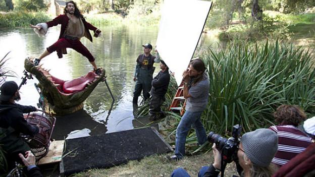 Star-Fotografin Anne Leibovitz fotografiert Schauspieler Russel Brand für Magazine wie «Vanity Fair», «People» oder «GQ».