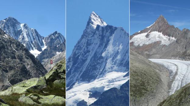 Drei Wanderungen und das Finsteraarhorn aus drei verschiedenen Blickwinkeln