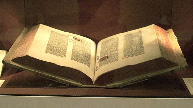 Die Gutenberg-Bibel gilt als Gedächtnis der Menschheit.