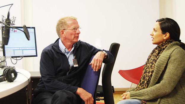 Dr. Ulrich Lips im Gespräch mit DRS 3-Moderatorin Anna Maier.