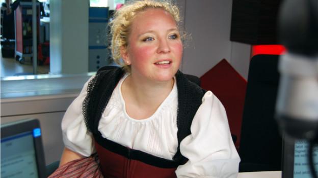 Schon früh morgens in Jodellaune: Jodelprofi Barbara Klossner.