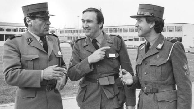 Mit Mäni Weber und Kurt Felix im WK bei der Abteilung Presse-Funkspruch (APF). 1976